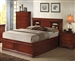 Louis Philippe Storage Bed in Cherry Finish by Coaster - 200439Q