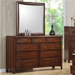 Hillary Dresser in Warm Brown Finish by Coaster - 200643
