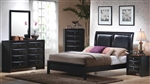 Briana 6 Piece Bedroom Set in Black Finish by Coaster - 200701