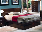 Jessica Platform Bed in Cappuccino Finish by Coaster - 200711Q