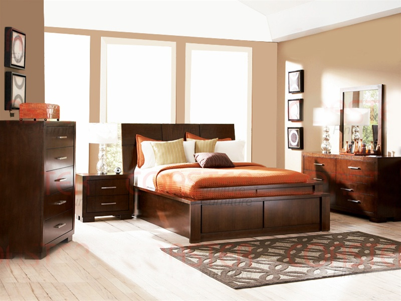Storage Platform Bed 6 Piece Jessica Bedroom Set In Light Cappuccino Finish  By Coaster   200718