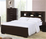 Jessica Bookcase Bed in Cappuccino Finish by Coaster - 200719Q