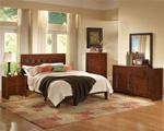 Resin 6 Piece Bedroom Set in Cherry Finish by Coaster - 200751