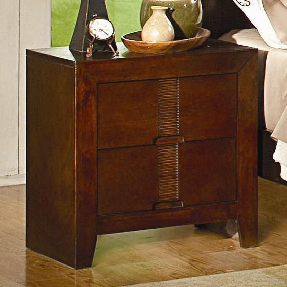 Resin Nightstand In Cherry Finish By Coaster 200752