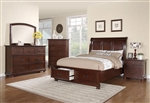 Hannah Storage Bed 6 Piece Bedroom Set in Brown Cherry Finish by Coaster - 200831