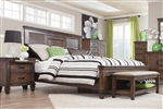 Franco Bed in Burnished Oak Finish by Coaster - 200971Q