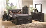 Louis Philippe Storage Bed 6 Piece Bedroom Set in Black Finish by Coaster - 201079