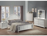 Kayla 6 Piece Bedroom Set in White Finish by Coaster - 201181