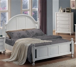 Kayla Post Panel Bed in White Finish by Coaster - 201181Q