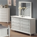 Kayla Dresser in White Finish by Coaster - 201183