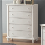 Kayla Chest in White Finish by Coaster - 201185