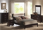 Kendra 6 Piece Bedroom Set in Mahogany Finish by Coaster - 201291