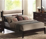 Kendra Platform Bed with Fabric Upholstered Headboard by Coaster - 201291Q