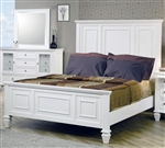 Sandy Beach Panel Bed in White Finish by Coaster - 201301Q