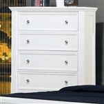 Sandy Beach 5 Drawer Chest in White Finish by Coaster - 201305