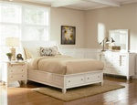 Sandy Beach Storage Bed 6 Piece Bedroom Set in White Finish by Coaster - 201309