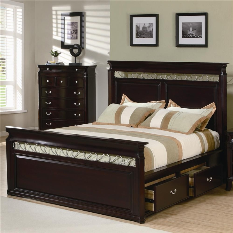 Manhattan 6 Piece Bedroom Set In Rich Espresso Finish By Coaster 201311