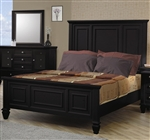 Sandy Beach Panel Bed in Black Finish by Coaster - 201321Q