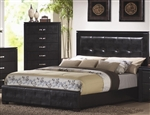 Dylan Black Faux Leather Upholstered Bed by Coaster - 201401Q