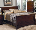 Versailles Sleigh Bed in Deep Mahogany Finish by Coaster - 201481Q