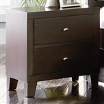 Lorretta Nightstand in Deep Brown Finish by Coaster - 201512