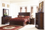 Foxhill Storage Bed 6 Piece Bedroom Set in Deep Brown Cherry Finish by Coaster - 201581