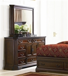 Foxhill Dresser in Deep Brown Cherry Finish by Coaster - 201583