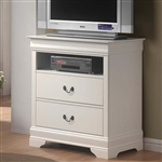 Louis Philippe Media Chest in White Finish by Coaster - 201696