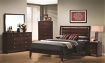 Serenity 6 Piece Bedroom Set in Rich Merlot Finish by Coaster - 201971