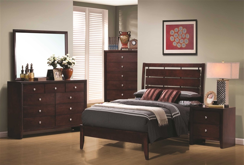 Serenity 4 piece youth bedroom set in rich merlot finish by coaster 201971t for Merlot finish bedroom furniture