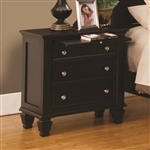 Sandy Beach 3 Drawer Nightstand in Cappuccino Finish by Coaster - 201992