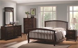 Tia 6 Piece Bedroom Set in Cappuccino Finish by Coaster - 202081