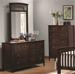 Tia Dresser in Cappuccino Finish by Coaster - 202083
