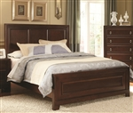 Nortin Panel Bed in Dark Brown Cherry Finish by Coaster - 202191Q