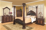 Grand Prado 6 Piece Bedroom Set in Warm Brown Cherry Finish by Coaster - 202201