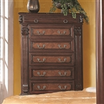 Grand Prado Chest in Warm Brown Cherry Finish by Coaster - 202205