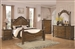 Bartole Traditional Bed with Finials 6 Piece Bedroom Set in Light Oak Finish by Coaster - 202221