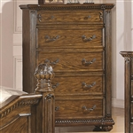 Bartole Traditional Five Drawer Chest in Light Oak Finish by Coaster - 202225