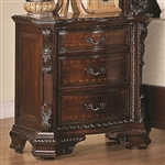 Maddison Nightstand in Warm Brown Cherry Finish by Coaster - 202262