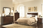 Tatiana 4 Pc Bedroom Set in Warm Brown Finish by Coaster - 202391H