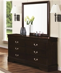 Louis Philippe Dresser in Cappuccino Finish by Coaster - 202413