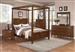 Jayden 6 Piece Canopy Bed Bedroom Set in Light Cherry Finish by Coaster - 202481