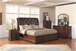 Zanna 6 Piece Bedroom Set in Brown Cherry Finish by Coaster - 202581