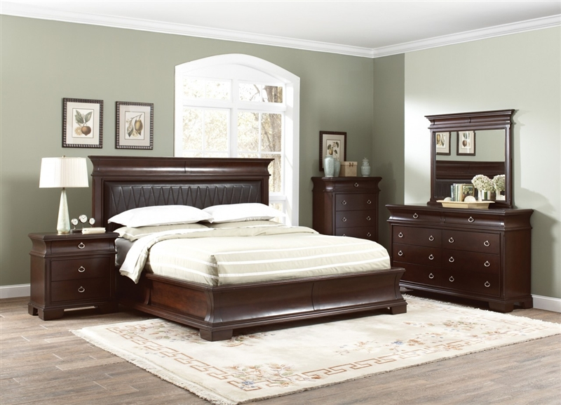 6 Piece Bedroom Set in Walnut Brown Finish by Coaster - 202611