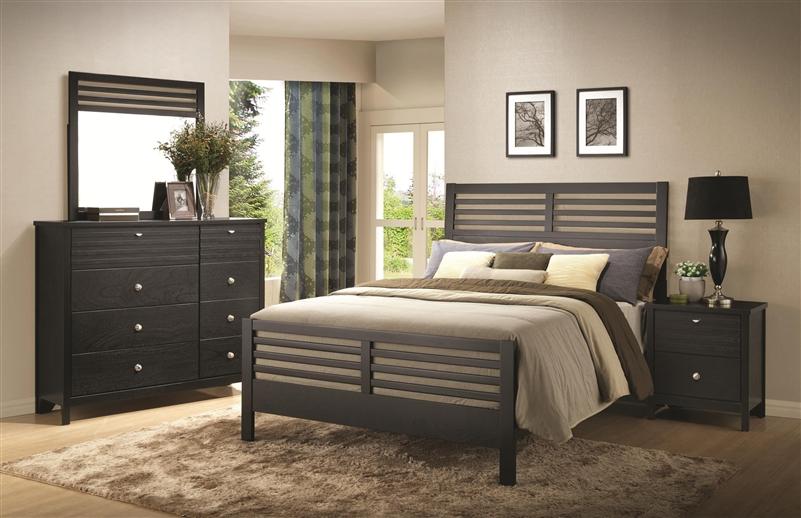 Richmond 6 Piece Bedroom Set in Black Finish by Coaster   202721 . Coaster Bedroom Furniture. Home Design Ideas