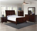 Findley 6 Piece Bedroom Set in Dark Cherry Finish by Coaster - 202791