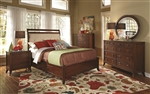 Ortiz 6 Piece Bedroom Set in Rich Cherry Finish by Coaster - 203031