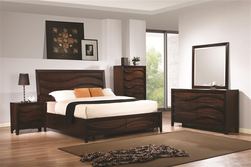 Loncar 6 Piece Bedroom Set In Java Oak Finish By Coaster
