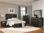 Devine 6 Piece Bedroom Set in Black Finish by Coaster - 203121