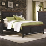 Mabel Bed in Distressed Black and Oak Two Tone Finish by Coaster - 203151Q